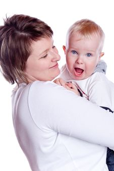 Picture Of Mother With Baby Boy Royalty Free Stock Photo