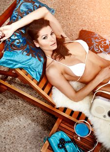 Free Woman Relaxing On Vacation Royalty Free Stock Images - 13630709