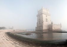 Free Tower Of Belem In Fog, Lisbon Royalty Free Stock Photo - 13631125