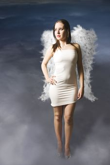 Free Angel Walking On Clouds Stock Images - 13631254
