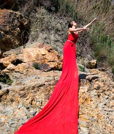 Free Woman In Red Royalty Free Stock Image - 13631256