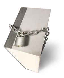 Free Big Book With Chain And Padlock Royalty Free Stock Photography - 13631337