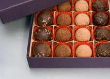 Free Box Of Truffles Royalty Free Stock Photo - 13631505