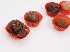 Free Assortment Of Chocolate Truffles Royalty Free Stock Photography - 13631547