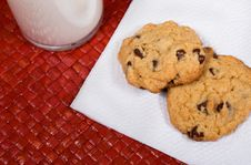 Free Milk And Cookies Royalty Free Stock Image - 13631606