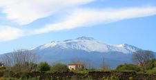 Free View On Etna Royalty Free Stock Images - 13631619