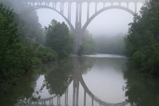 Free Bridge In Fog Royalty Free Stock Image - 13632256