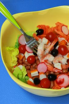 Free Prawn Salad Royalty Free Stock Image - 13634116