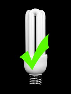 Free Energy Saving Light Bulb Royalty Free Stock Photography - 13634797