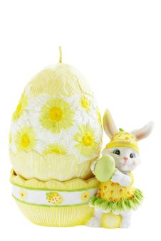 Rabbit With The Egg Stock Photos