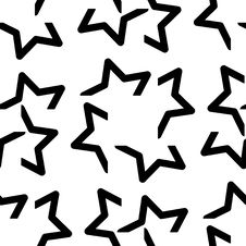 Free Seamless Star Pattern Royalty Free Stock Photography - 13635557