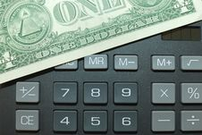 Free Calculator And Momey Royalty Free Stock Photo - 13635755