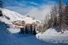 Free View On Alpine Skiing Resort Royalty Free Stock Photography - 13635807