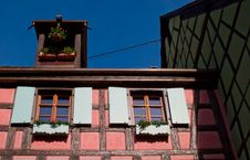 Free Pink Timber Frame House In Alsace Royalty Free Stock Photo - 13635965