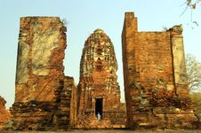 Free Ruins Of Buddhist Temple Royalty Free Stock Images - 13636289