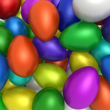 Free Colorful Easter Eggs Royalty Free Stock Photos - 13636828
