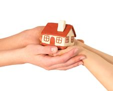 House In The Women S  Hands Stock Image