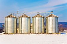 Free Silo In Winter With Snow And Blue Sky Stock Photo - 13637210
