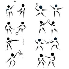 Free Sport Silhouettes Pack Royalty Free Stock Photography - 13638127