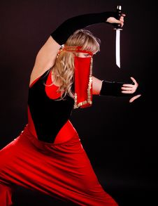 Image Of Girl Ninja Stock Photos