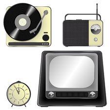 Free Retro Object Icons - Set Stock Photos - 13638433