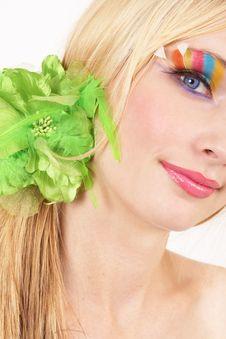 Free Portrait Of Beautiful Blonde Woman Stock Photos - 13638723