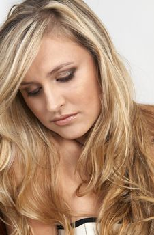 Free Portrait Of Beautiful Blonde Woman Stock Image - 13638731