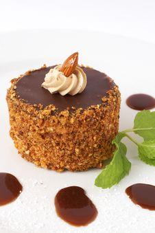 Miniature Chocolate Cake Royalty Free Stock Photo