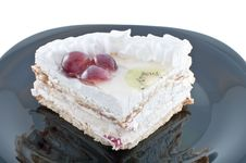 Tasty Cake With Fruit Stock Photography