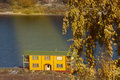 Free Boat Station On The Autumn River Stock Photos - 13642013