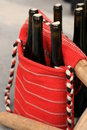 Free Wine Bottles In Traditional Woven Handbag Stock Images - 13642754