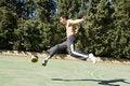 Free Young Man Kicking Ball Stock Photography - 13644392