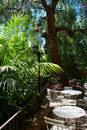 Free Exotic Garden, Caffee Tables In France Royalty Free Stock Photos - 13644878