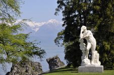 Statue In Gardens, Villa Melzi, Lake Como Stock Photography