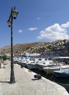 Embankment On The Symi Stock Photography