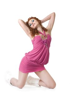 Free Sexy Red-haired Girl Stock Photo - 13640180