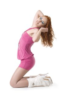 Sexy Red-haired Girl Stock Image