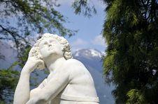 Statue In Gardens, Villa Melzi, Lake Como Stock Image