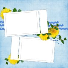 Free Card For The Holiday  With Flowers Stock Images - 13640444