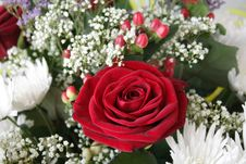 Free Fragment Floral Bouquet With A Rose Royalty Free Stock Image - 13640456