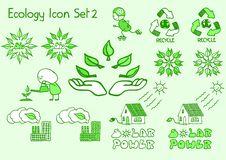 Ecology Icon Set 2 Royalty Free Stock Image