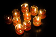 Free Lit Candles Royalty Free Stock Image - 13640886