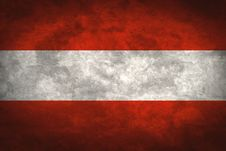 Free Austria Grunge Flag Stock Photography - 13641122