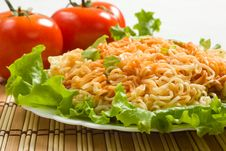 Free Dish Of Noodles Royalty Free Stock Images - 13641279