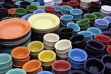 Free Pottery Palette Royalty Free Stock Photos - 13641368