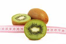 Kiwi Fruit Isolated On White Background Stock Photography