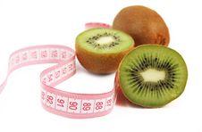 Free Kiwi Fruit Isolated On White Background Royalty Free Stock Image - 13641446