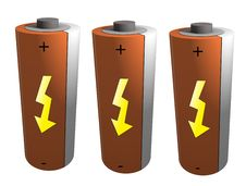 Free Batteries 3d Royalty Free Stock Images - 13641559