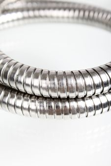 The Goffered Metal Hose Royalty Free Stock Photography