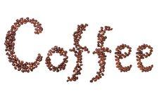 Free Coffee Inscription Stock Photo - 13642420